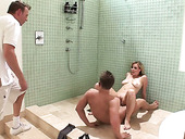 Whore wife Adrianna Nicole seduces plumber and arranges dirty 3some sex