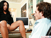 Sexually charged secretary Morgan Lee is having nookie with her kinky boss