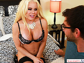 Naughty stepmom Nikki Delano enjoys sucking hard and meaty dick