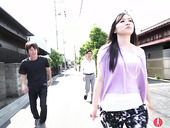 Slutty Japanese babe Yuka Wakatsuki is fucked by two dudes