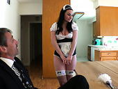 Sassy brunette in sexy uniform Veruca James is fucked in her ass
