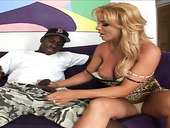 Blond bitch Odessa is fucked hard by kinky black dude with a big shlong