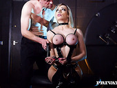 Horny master fucks seductive bitch in latex lingerie Chessie Kay