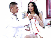 Unforgettable role playing games with stunning sexy nurse Kira Queen