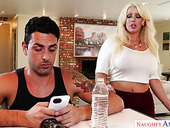 Sex-hungry milf Alura Jenson seduces one young dude for crazy anal sex