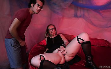 Mature whore Lilith is fucked by one hot tempered young client