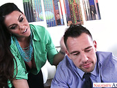 Hot blooded secretary Alison Tyler seduces her boss and gets her slit rammed