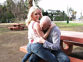 Slutty chick Cadence Lux takes off her jeans and gets her muff rammed