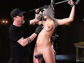 Bondage babe Charlotte Cross is punished with the help of vibrator