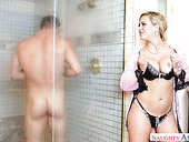 Stunning blond milf Cherie Deville is eager for big and meaty dick of her paramour