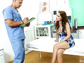 Sex-hungry patient Sophie Lynx seduces one handsome doctor