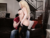 Spoiled stepmom Nikki Delano gives the best ever blowjob to her stepson