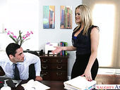 Sex-hungry secretary Alexis Texas  is fucked hard by her hot blooded boss