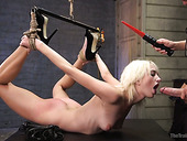 Tied up blonde Eliza Jane is fucked by one perverted dude