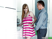 Red haired hottie Dolly Leigh is fucked by hot blooded and perverted stepdad