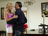 Gorgeous tanned milf Brandi Love rides hard and meaty pole