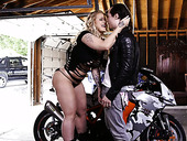 Biker fucks mega busty whore Ryan Conner and makes her cunt happy