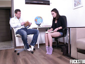 Cute college chick Jenny Fer gets her anus destroyed