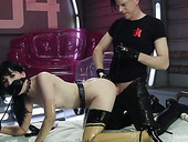 Kinky dude fucks tight anal hole of sweet looking babe Charlotte Sartre