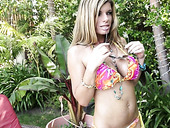 Fake tittied whore wife Kristal Summers is cheating on her husband with one kinky photographer
