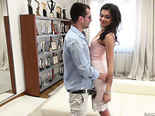 Two sex-hungry dudes fuck one sex-appeal chick Verona Sky