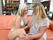 Young blonde Katy Sky is rimming anal hole and licking pussy