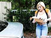 Fake tittied blonde Cristi Ann hooks up with her new neighbor