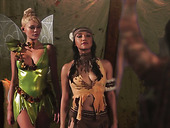 Chief of the tribe fucks redskin babe and cute pixie Tinker Bell