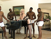 Dirty wife Jenna Ivory is cheating on her husband with several black dudes