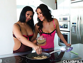 Two housewives find out that they are nasty and insatiable lesbians