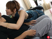 Asian chick Iori Miduki gives her head and gets her pussy fucked and creampied
