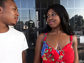 Ebony chick Destiny Blaze is picked up and fucked by one black stranger