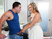 Sex-crazy mommy Tucker Stevens seduces the best friend of her son