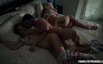 Hot chick Alyce Anderson seduces boyfriend of sleeping sister