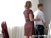 Naughty Russian girlfriend Diana Dali is fucked by two hot guys