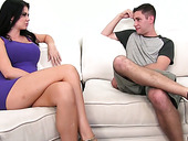 Fake tittied brunette Jasmine Jae gets intimate with one hot blooded dude