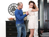 Ardent red haired girlfriend Hazel Dew is making love with her passionate boyfriend