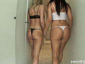 Fucking hot babes Linda Shane and her bootyful GF share one hard and juicy dick