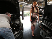 Delicious seductive milf Alyssa Branch seduces one mechanic