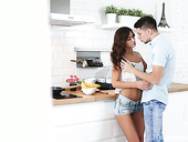 Russian babe Nita Star is making love with her passionate boyfriend in the kitchen