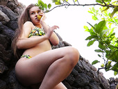 Yummy And Pretty Hot Babe Angel B Shows Her Wet Punani Outdoor