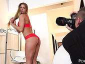 Sizzling blondie Chrissy Fox is fucked by photographer and his assistant