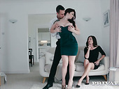 British wife Lucia Love enjoys watching how her husband fucks curvy busty hooker