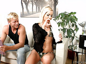 Blond seductress Sunshine is eager for crazy anal pounding
