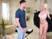Legendary nuru massage by sexually charged babe Kenzie Taylor