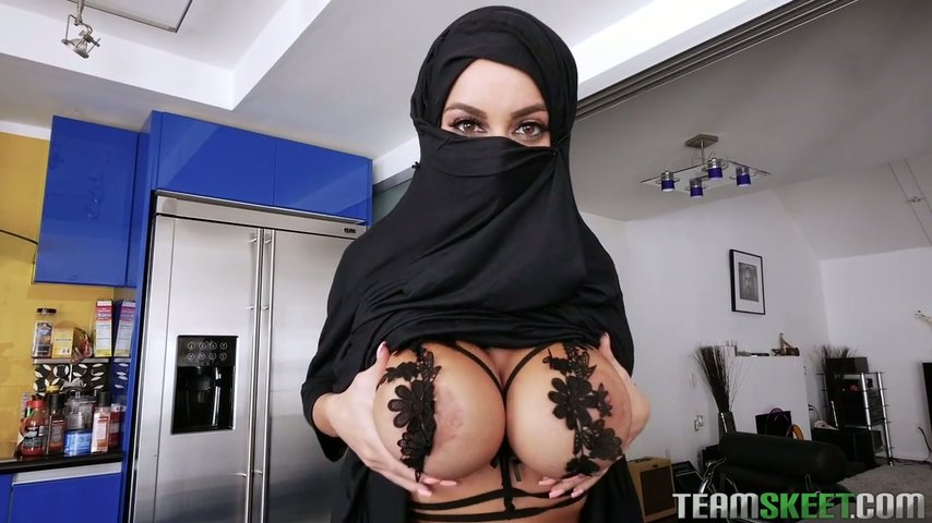 Embarrassed naked shower girl