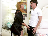 Cleaning boy fucks super busty and hot blooded milf Sara Jay
