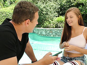 Yummy 18 yo teen Carolina Sweets gets intimate with her step brother