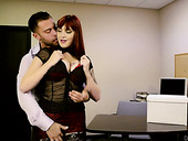 Red haired paramour Amber Ivy enjoys making love with her Ex BF