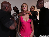 Whore wife Skylar Snow takes part in crazy gangbang while her husband is on a business trip